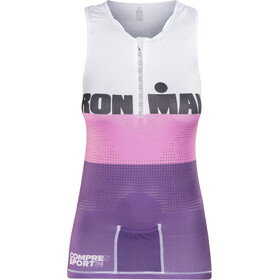 Compressport TR3 Top sin Mangas de Triatlón Edición Ironman Mujer, stripes purple